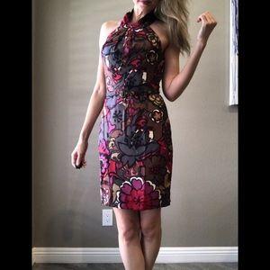 Trina Turk Silk Halter Dress